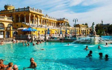 Budapešť v apartmánech přímo v centru s celodenním vstupem do Széchenyiho lázní