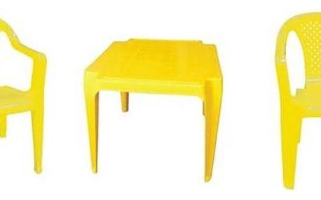 Zahradní nábytek IPAE dětský - plast/žlutý