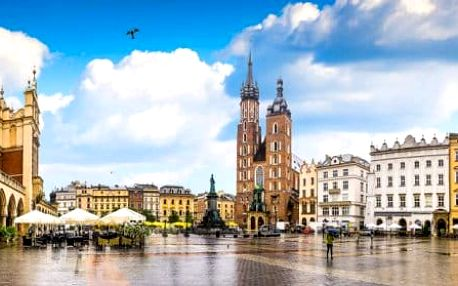 Užívejte Krakow a jeho královskou atmosféru se snídaní a wellness