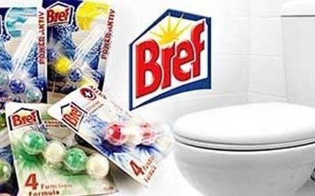 Balení 10 voňavých WC bloků Bref Power aktiv pro čerstvý vánek na Vaší toaletě