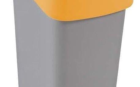 Odpadkový koš FLIPBIN 50l - žlutý CURVER