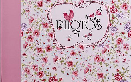 KARPEX Fotoalbum na růžky 30x30cm 100 stran Květinové pole – růžová