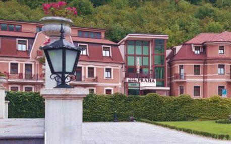 Garni hotel Praha *** v centru světoznámých lázní Trenčianske Teplice s polopenzí a wellness