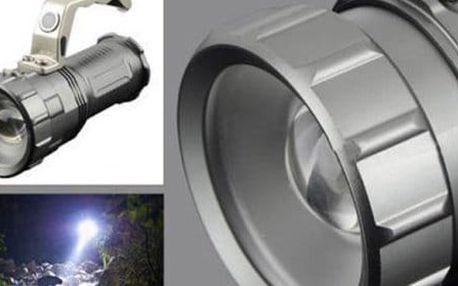 Vysoce výkonní dobíjecí LED svítilna s rukojetí a funkcí ZOOM