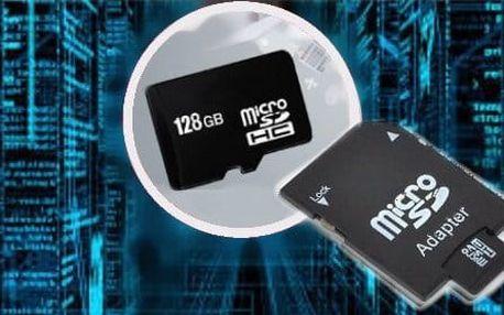 128GB paměťová MicroSD karta s adaptérem