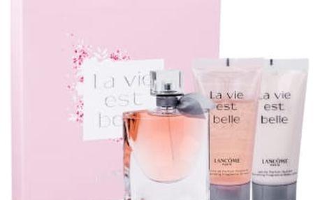 Lancome La Vie Est Belle dárková kazeta pro ženy parfémovaná voda 75 ml + tělové mléko 50 ml + sprchový gel 50 ml