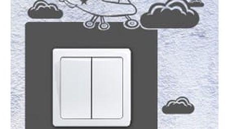 Smolepka na zeď Samolepka na vypínač - Vrtulník 2