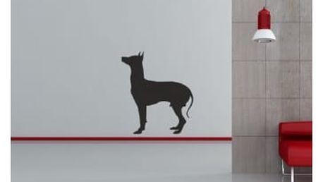 Smolepka na zeď Silueta psa 3