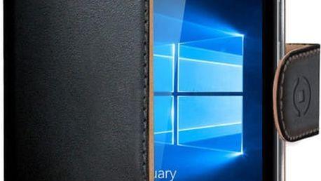 CELLY Wally pouzdro pro Microsoft Lumia 650, PU kůže, černá - WALLY536