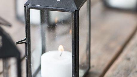 IB LAURSEN Mini lucerna Triangular Black, černá barva, čirá barva, sklo, kov