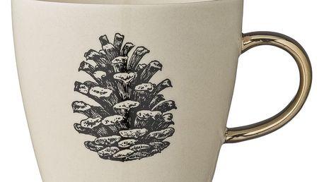 Bloomingville Keramický hrnek Maria, zlatá barva, keramika