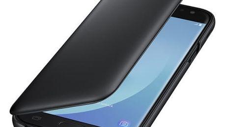 Pouzdro na mobil flipové Samsung Wallet Cover pro J5 (2017) (EF-WJ530CBEGWW) černé