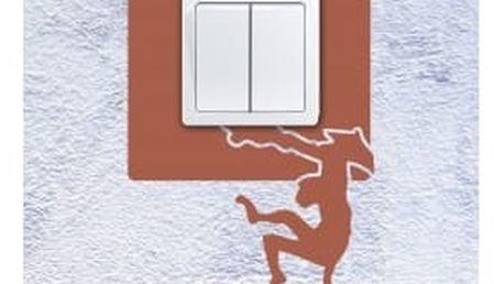 Smolepka na zeď Samolepka na vypínač - Opice