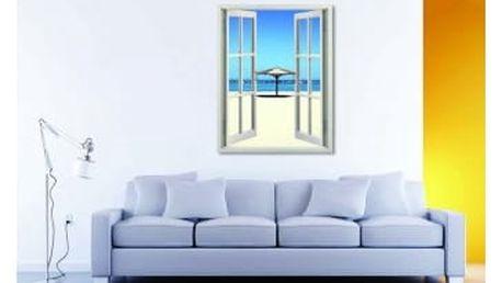Živá dekorace na Okno - výhled na pláž