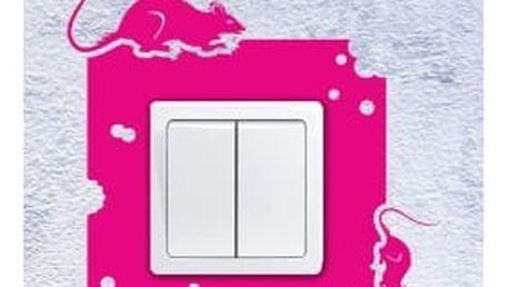 Smolepka na zeď Samolepka na vypínač - Myšky