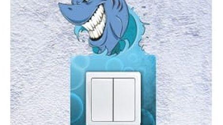 Smolepka na zeď Samolepka na vypínač - žralok