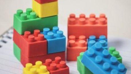 Sada mazacích gum Lego kostky