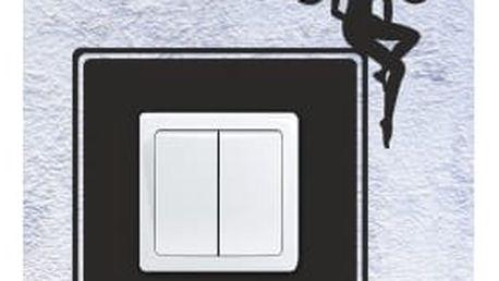 Smolepka na zeď Samolepka na vypínač - Víla