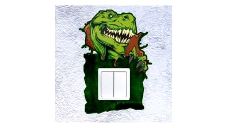 Smolepka na zeď Samolepka na vypínač - tyranosaurus