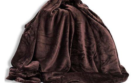 Homeville Homeville deka mikroplyš 150x200 cm tmavě hnědá