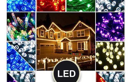 Vánoční venkovní LED řetězy - 100 LED, 10 metrů, 24V trafo
