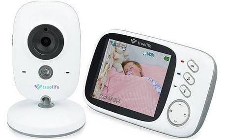 Dětská elektronická chůva TrueLife NannyCam H32, digitální video bílá + Doprava zdarma