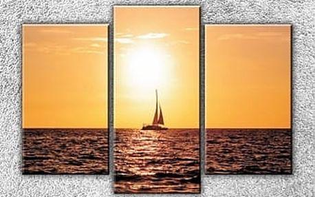 Západ slunce nad jachtou 3
