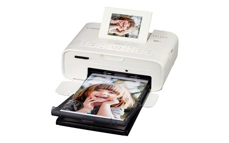 Fototiskárna Canon CP-1200 Selphy + sada 54 papírů a folií (0600C012) bílá