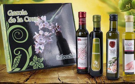 Dárková sada 4 extra panenských olivových olejů
