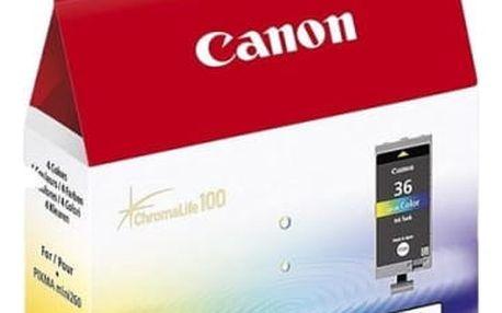 Inkoustová náplň Canon CLI-36C - originální (1511B001) červená/modrá/žlutá