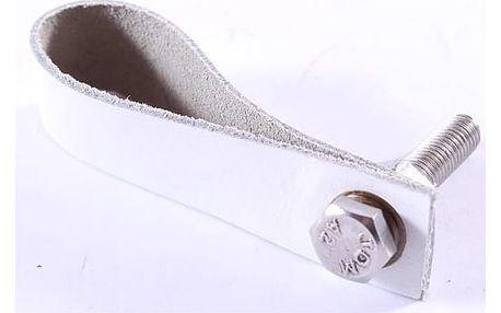 La finesse Kožená úchytka bílá 9 cm, bílá barva, kůže