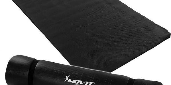 MOVIT 1975 Podložka na jógu 190 x 100 x 1,5 cm - černá