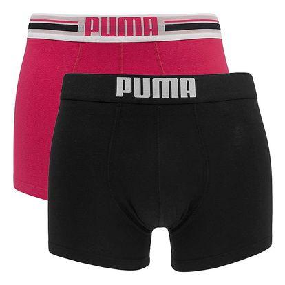2PACK pánské boxerky Puma placed logo pink long L