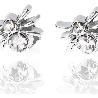 Fashion Icon Náušnice pecky Pavouci stříbrné