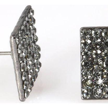Fashion Icon Náušnice čtverec s krystalky