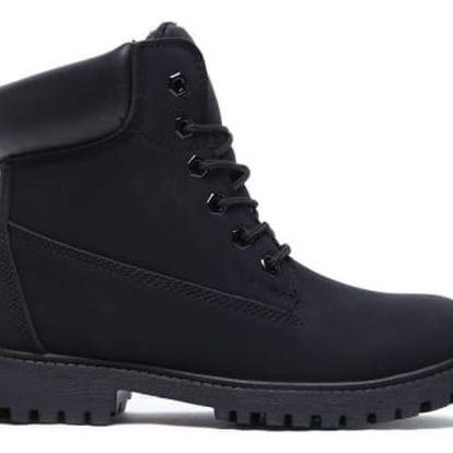 Dámské černé kotníkové boty Maya 8148