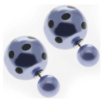 Fashion Icon Náušnice oboustranné kuličky puntíky