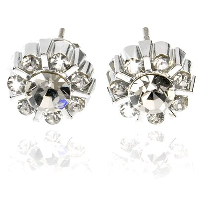 Fashion Icon Náušnice kytičky pecky s krystaly