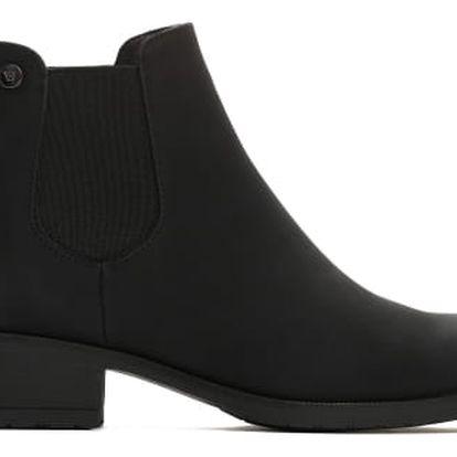 Dámské černé matné kotníkové boty Kathy 046a