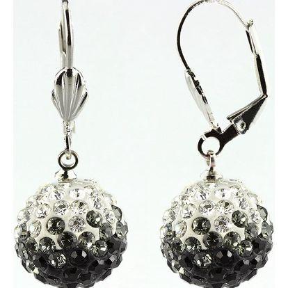 Fashion Icon Náušnice discoballs dvoubarevné velké s krystaly