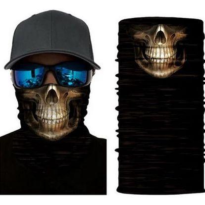 Pánský šátek s originálním potiskem Maska