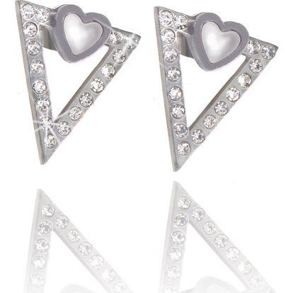 Fashion Icon Náušnice trojúhelník s krystalky