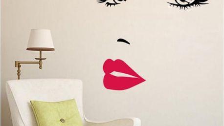 Samolepka na zeď Krásná tvář