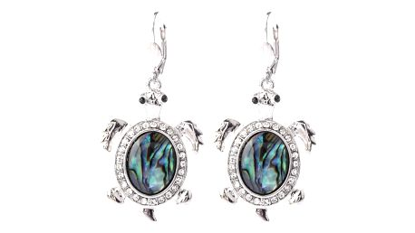 Fashion Icon Náušnice želva Paua perleť