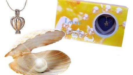 Perla přání - perla, řetízek a přívěsek