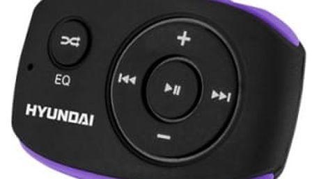 MP3 přehrávač Hyundai MP 312 GB8 BP černý/fialový