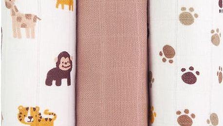 T-TOMI Tetra pleny, opice, sada 3 kusů - Top kvalita