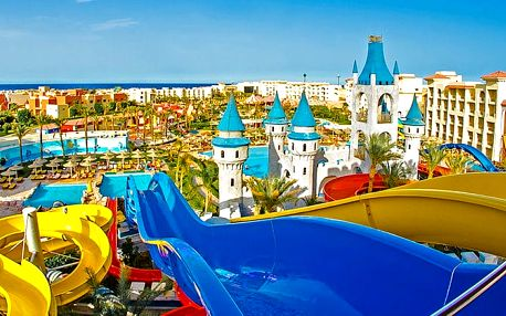 Hotel Fun City Resort & Aquapark, Hurghada, Egypt, letecky, all inclusive
