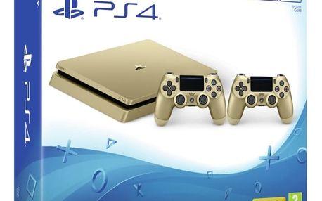 PlayStation 4 Slim, 500GB, zlatá + 2x DS4 - PS719847960