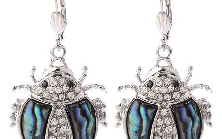 Fashion Icon Náušnice beruška Paua perleť